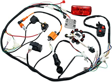 Complete Electrics 4 Stroke ATV QUAD 150 200 250 300CC Wiring Harness on