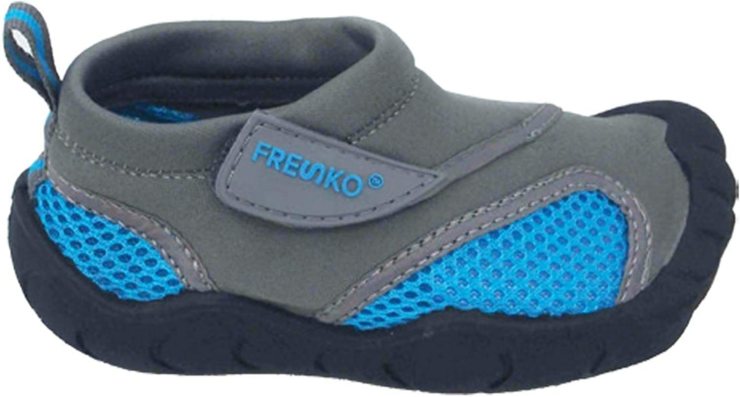 Fresko Toddler Water Shoes for Boys and Girls, T2110, Grey/Blue, 8 M US Toddler
