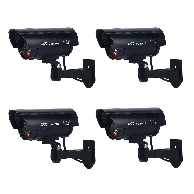 YaeTek Pack of 4 IR Bullet Fake Dummy Surveillance Security Camera CCTV Dome Camera Indoor Outdoor Yaemart Corportation SCNEW-01980