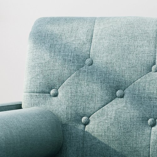 Christopher Knight Home 305842 Nour Fabric Mid-Century Modern Club Chair, Blue, Natural - 4