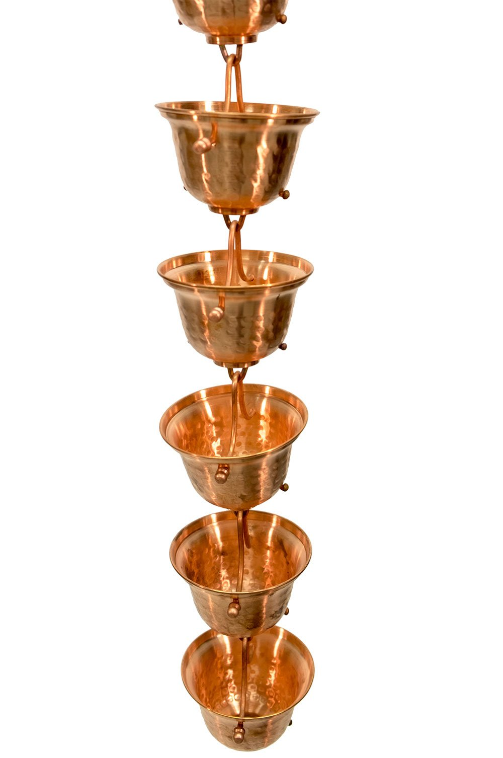Copper Bells Rain Chain with Installation Kit (10 Foot) by Nutshell Stores