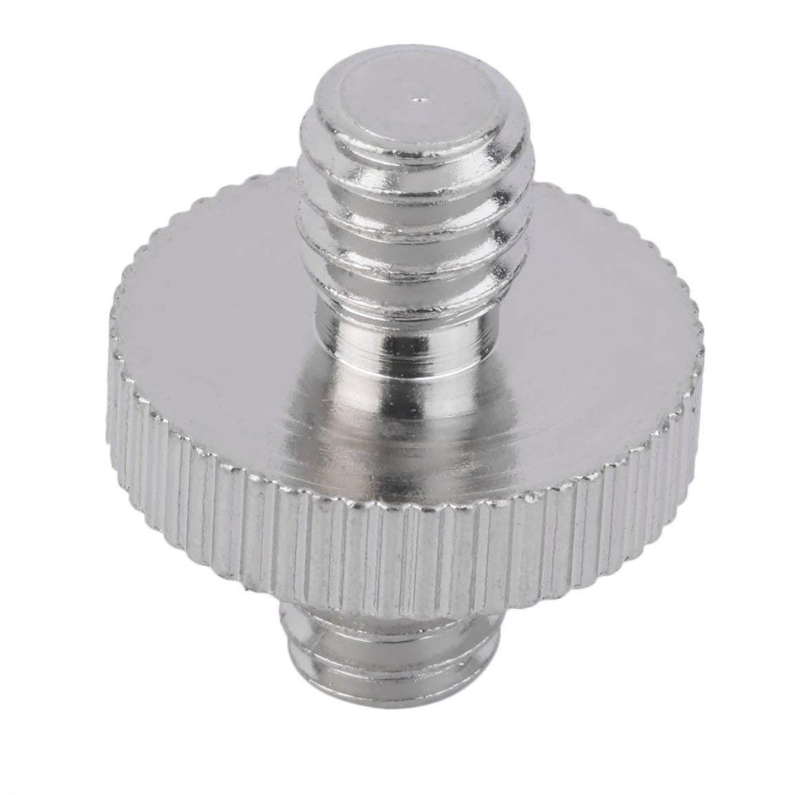 1//4 m/âle /à m/âle Adaptateur de vis de cam/éra pour Support de Montage de tr/épied DSLR Monopod//Rotule//Plaque de lib/ération Rapide//Stand Flash Light