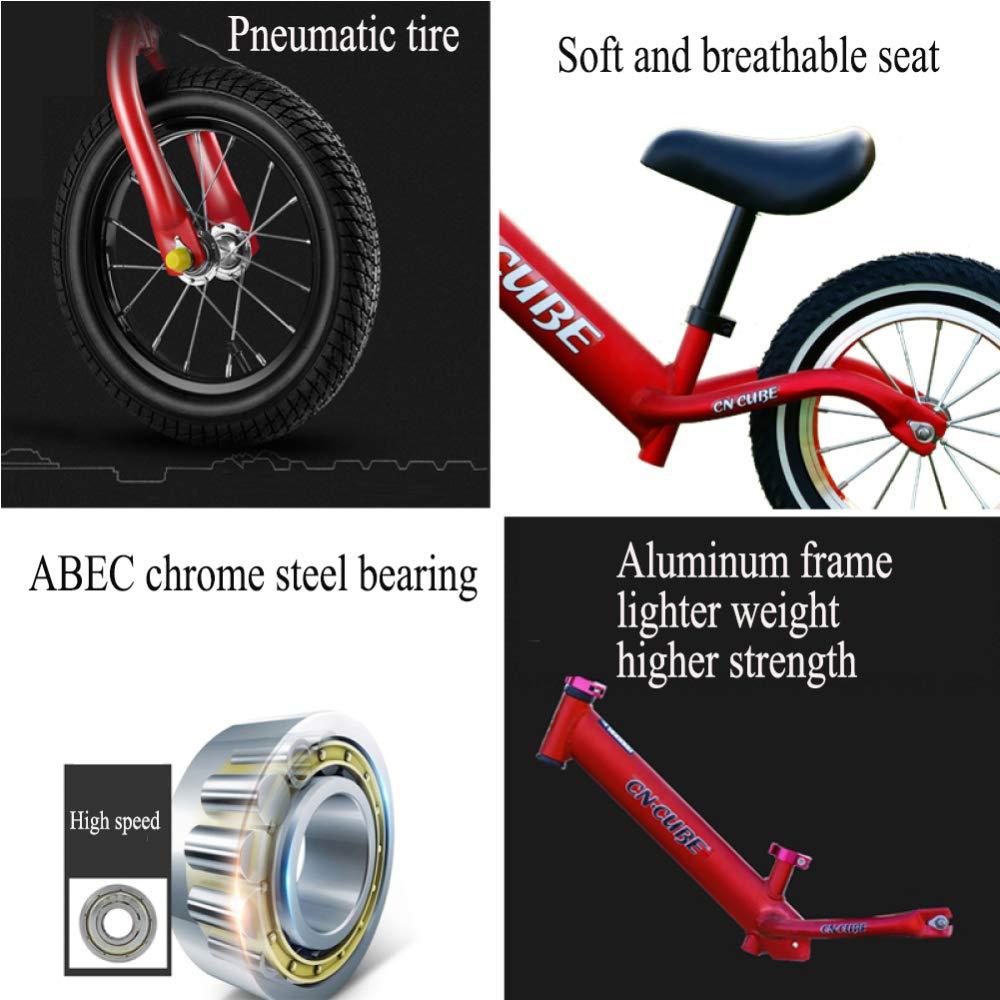 CHRISTMAD 039;& 12 & 039;& CHRISTMAD 039; Kids Balance Bike Ultralight Aluminiumlegierung Rahmen, Babys Erstes Fahrrad Eva Gummirad Verstellbare Höhe 2-6 Jahre Alt80-120cm,D 9d0bd6