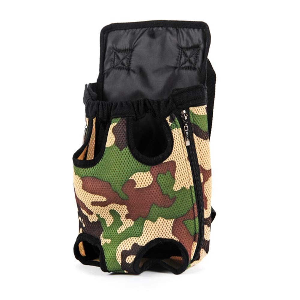 Camouflage M Camouflage M Teng Peng Pet travel bag, pet chest backpack, portable, travel pet supplies, convenient and comfortable breathable storage bag Pet supplies pet bag (color   Camouflage, Size   M)