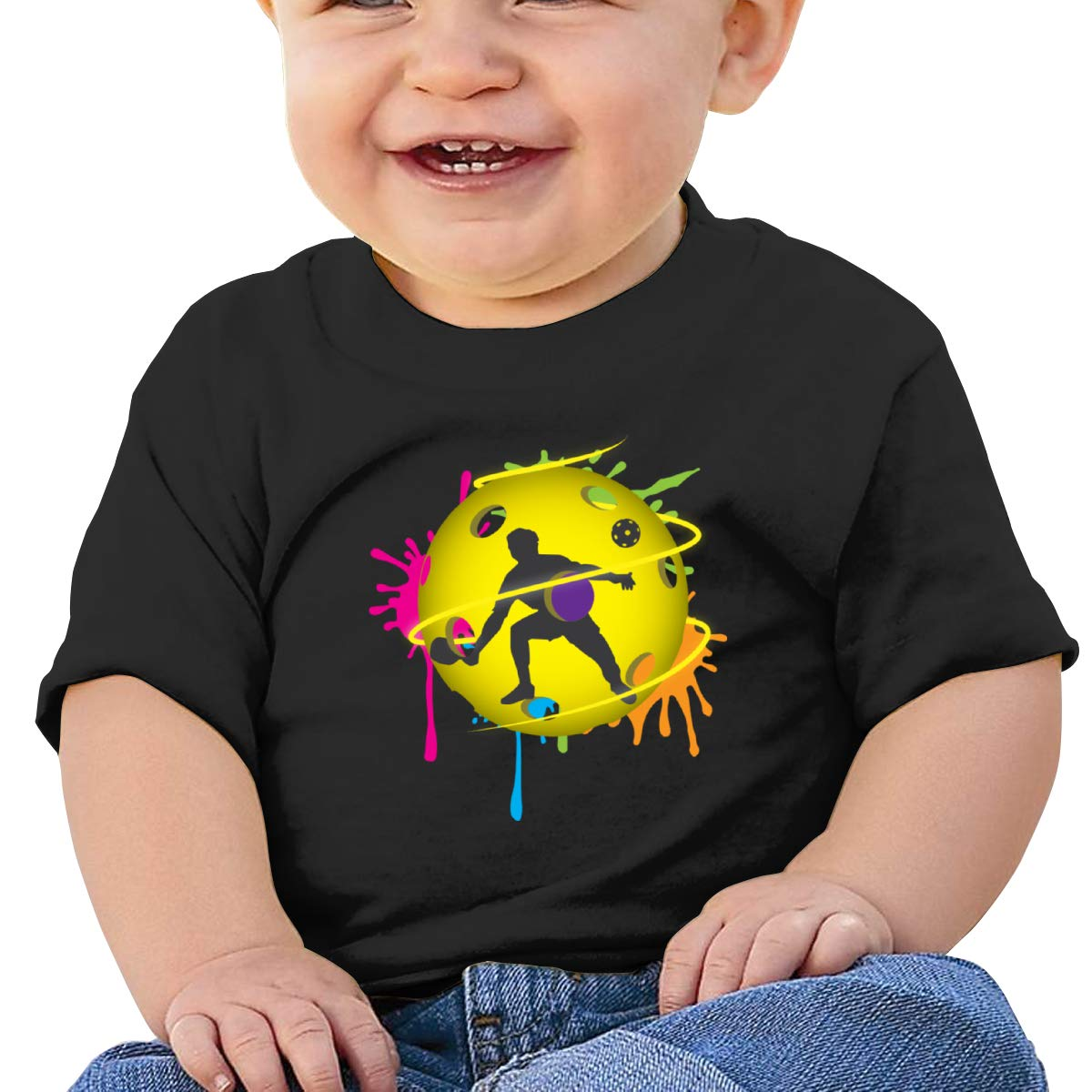 Moniery Neon Pickleball Player Short Sleeves T Shirt Baby Boys Toddler