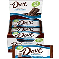18-Count DOVE 100 Calories Milk Chocolate Candy Bar 0.65-Oz.