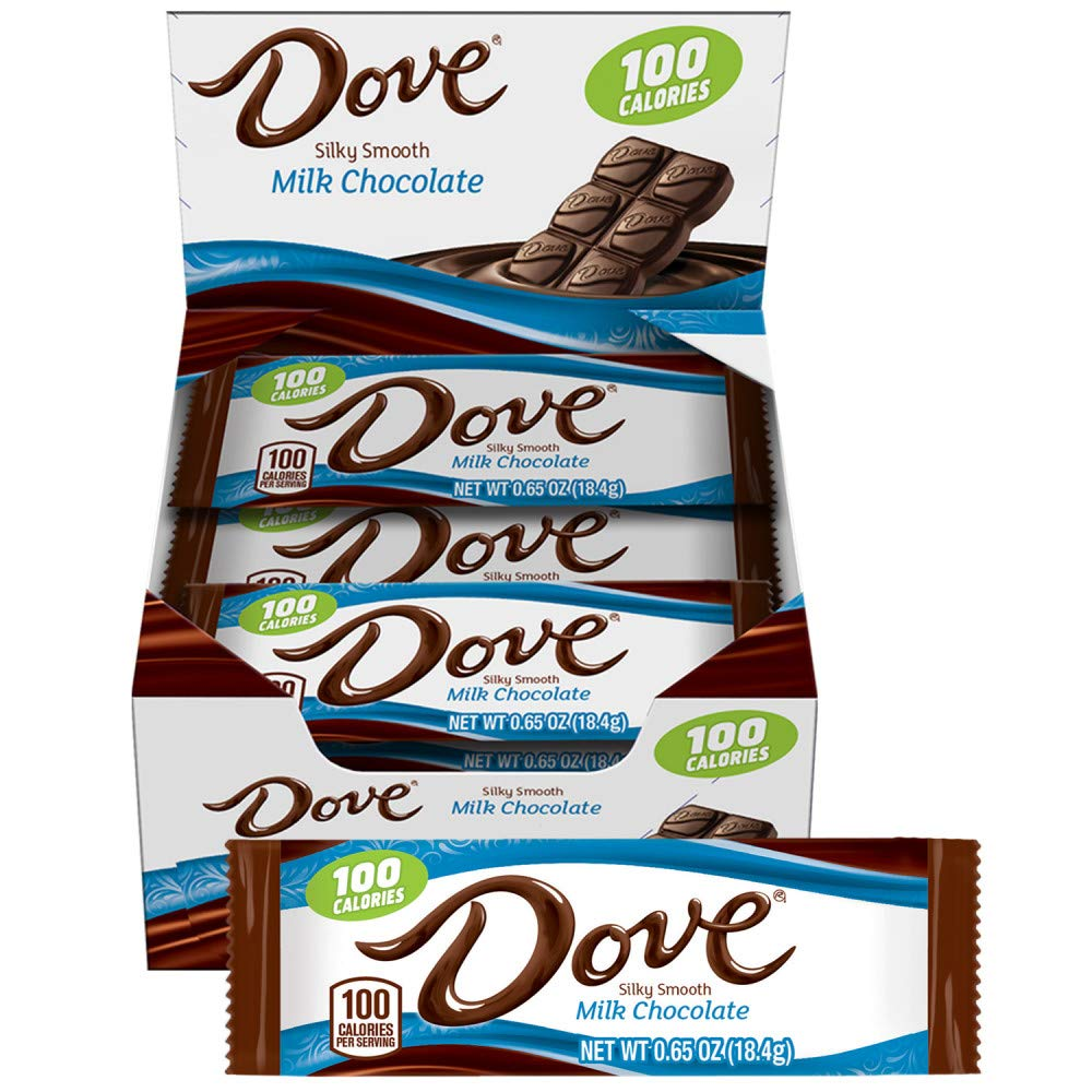 Dove 100 Calories Milk Chocolate Candy Bar 0.65-Ounce Bar 18-Count Box 611O2RQAlvL
