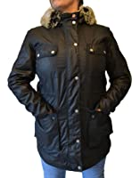 Barbour Women's Carribena Wax Parka Jacket Black (BBJK002)
