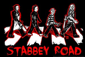 Stabbey Road by Big Chris Horror Movie Cool Wall Decor Art Print Poster 18x12