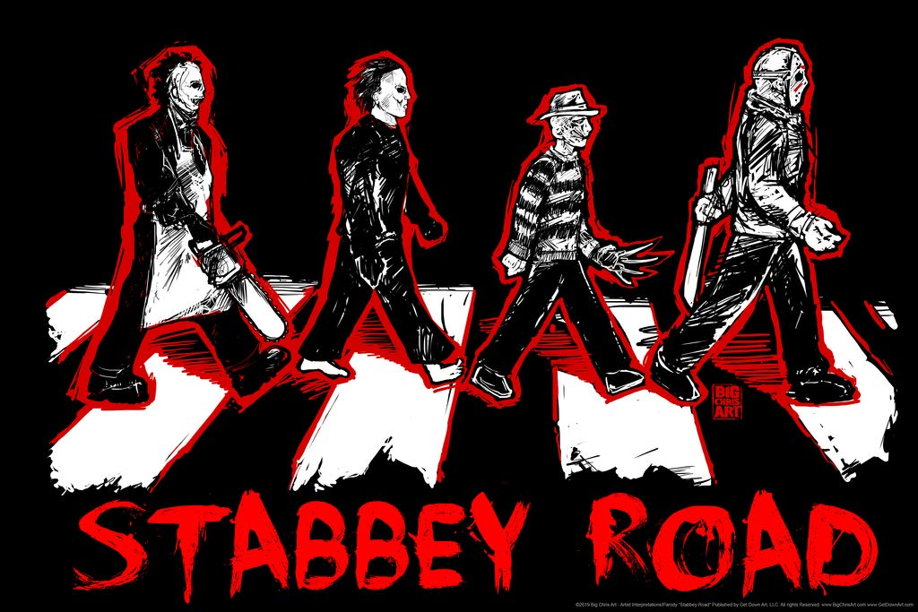 Stabbey Road by Big Chris Horror Movie Poster 36x24 Inch