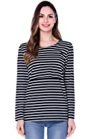 Bearsland Women's Striped Maternity Breastfeeding Clothes and Nursing Tops