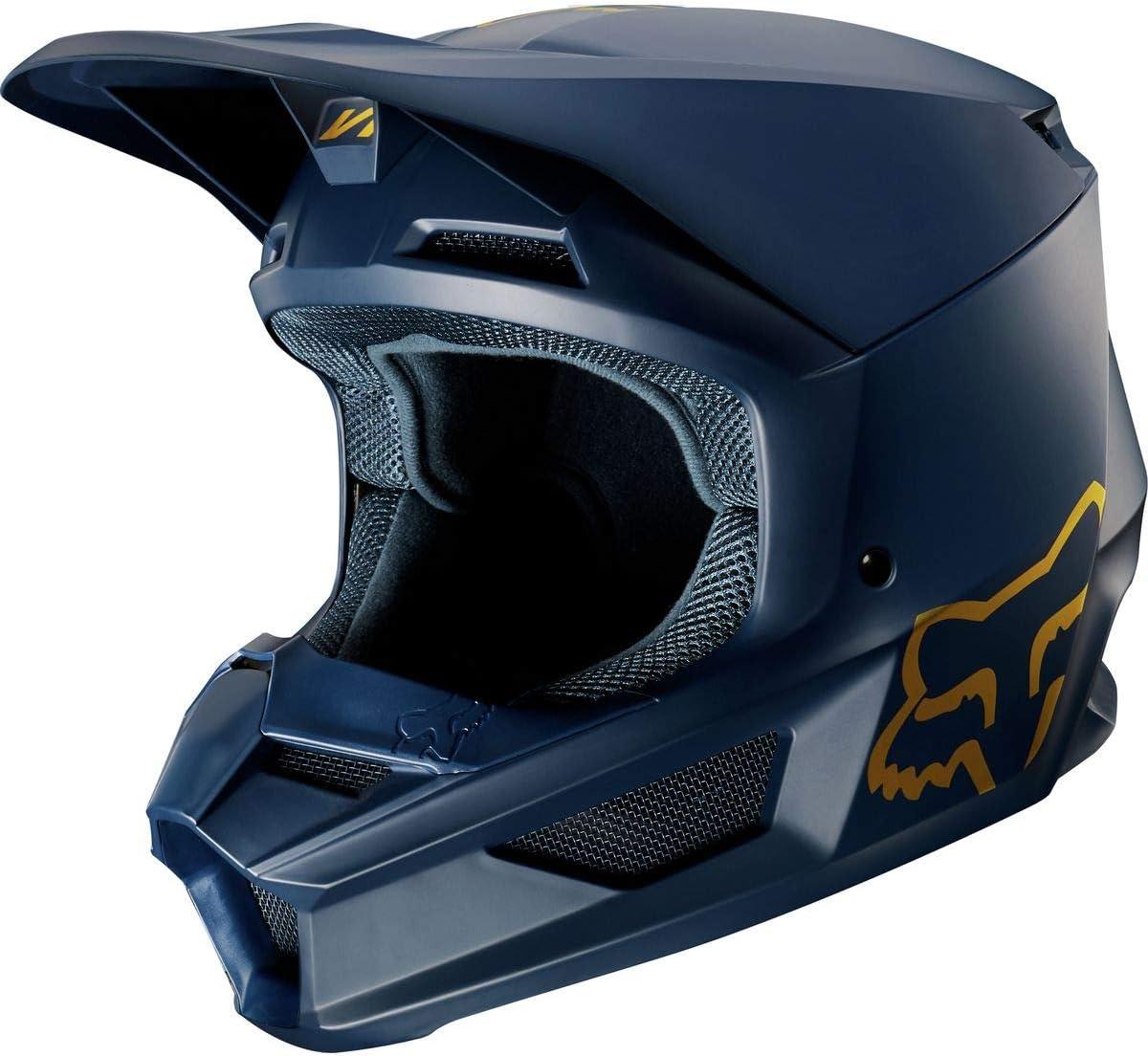 Fox Helmet V-1 Se Navy//Gold L