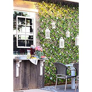 Events & Crafts Accordian Ivy Lattice Fence with Flowers 8' 3
