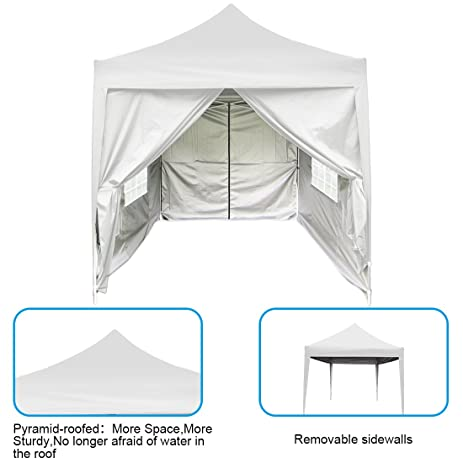 Peaktop 6.6 Feetx6.6 Feet Pyramid-roofed EZ Pop Up Canopy Multifunctional Tents C&ing  sc 1 st  Amazon.com & Amazon.com: Peaktop 6.6 Feetx6.6 Feet Pyramid-roofed EZ Pop Up ...