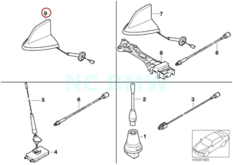 Amazon com: BMW Genuine Telephone Antenna Multi-Band: Automotive