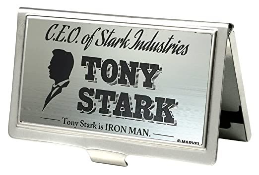 Amazon ceo of stark industries tony stark brushed silver black ceo of stark industries tony stark brushed silver black business card holder small colourmoves