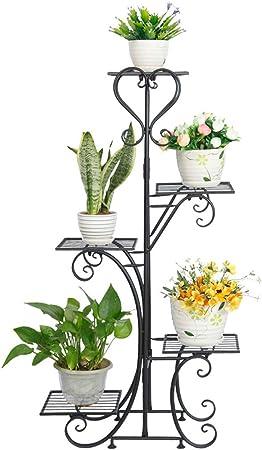 Metall Pflanzentreppe Blumenständer 5 Ablagen Blumentreppe Blumenregal