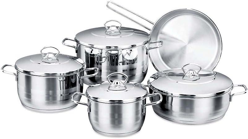 KORKMAZ tombik A1749 Saucepan Set 16 Piece Saucepan Set Tea Pot Mocha Jugs Set