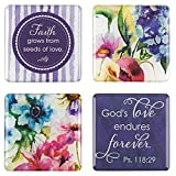 """Seeds of Love"" Inspirational Fridge Magnet Set (4)"