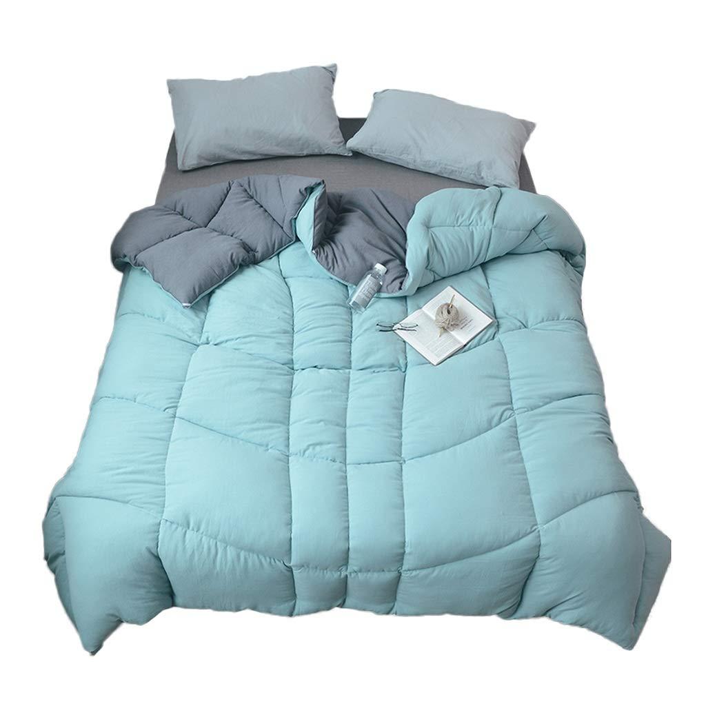 無地の掛けふとん、世帯の色は暖かく快適な通気性の柔らかい掛けふとんの多機能の肥厚四季の空気調節毛布を保ちます (色 : Green, サイズ さいず : 220*240CM-3KG) B07MRLFYX5 Green 220*240CM-3KG