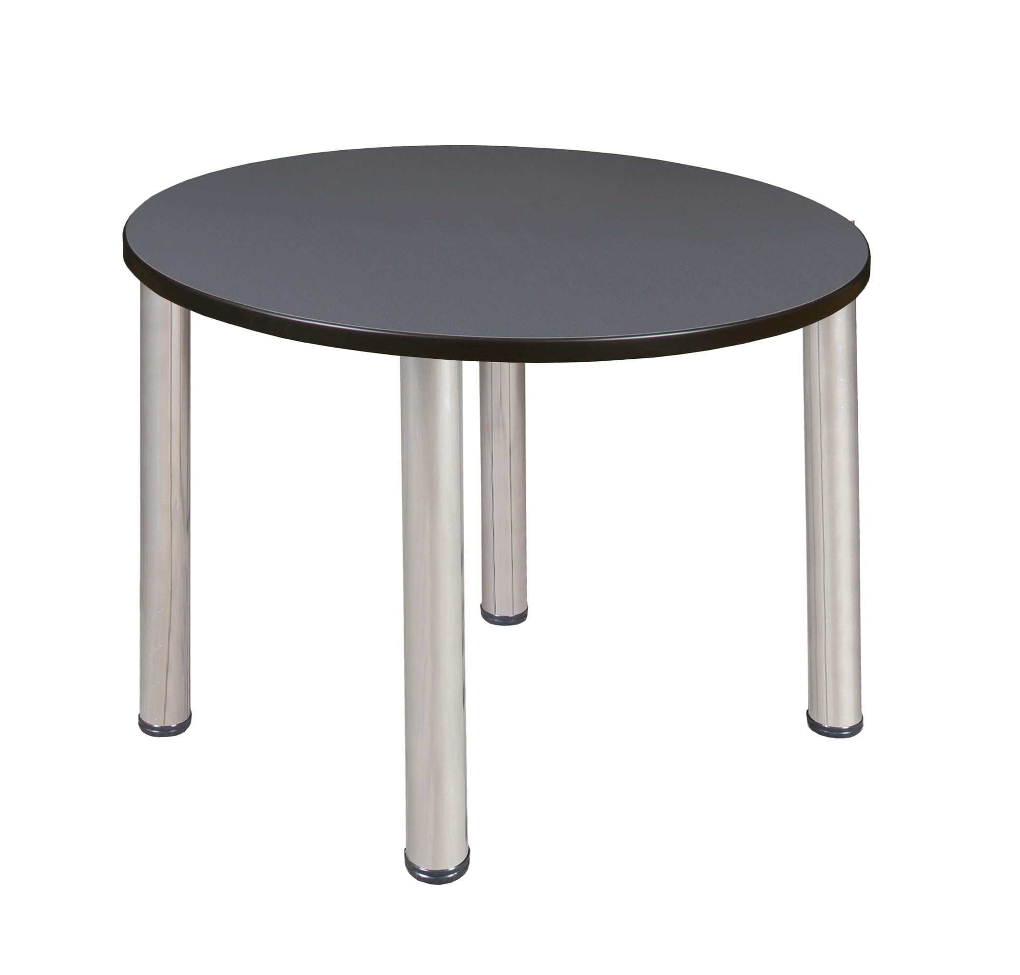 Regency A-TB36RNDSLBPCM Kitt Round Breakroom Table, 36'', Slate/Chrome