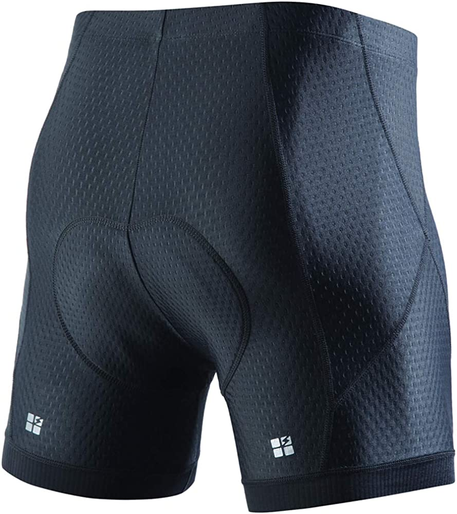 STUTSPORTS Men's 3D Gel Padded Cycling Underwear MTB Underpants Shorts Undershorts Bicycle for Outdoor Indoor Exercise Bike