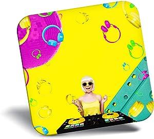 Destination Vinyl ltd Awesome Fridge Magnet - DJ Lady Pop Art Music Modern 21463
