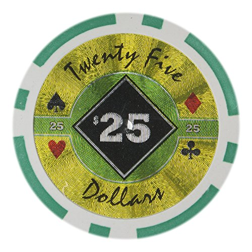 Brybelly Black Diamond Poker Chip Heavyweight 14-gram Clay Composite - Pack of 50 ($25 -