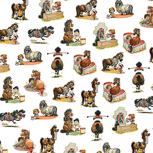 - Ponies Gift Wrap. Colour Thelwell gift wrap, wrapping paper for horse riders