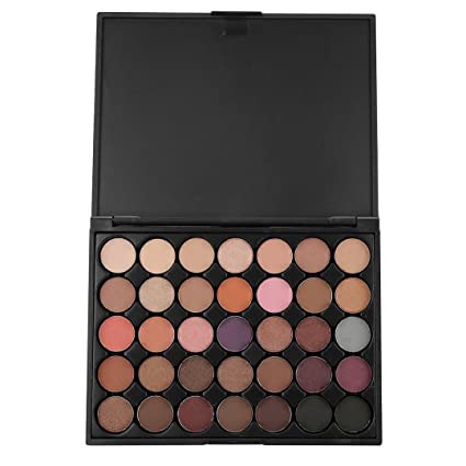 TiTCool Eyeshadow Palette Eye Shadow Powder Make Up 35 Color Waterproof Pearlescent Matte (B)