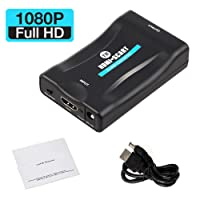 HDMI to SCART Converter Adapter Adaptor Scaler converter 1080P HDMI to SCART Adaptor HDMI Input SCART Output Adaptor For SKY Blu-Ray Player HDTV Xbox DVD - HDCP 1.3 VERSION by TB