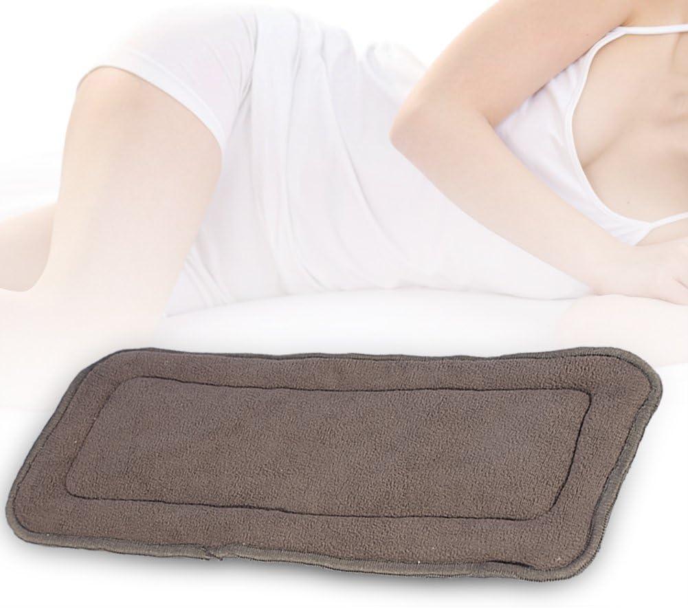 S 2 tama/ños 5 capas de inserci/ón de pa/ñales para adultos Almohadilla de pa/ñal de bamb/ú reutilizable para incontinencia y materna