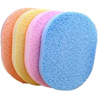 8Pcs Facial Sponges Colorful Oval Facial Cleanning Washing Sponge Pads Puff for Face Cleansing Exfoliating and Makeup…