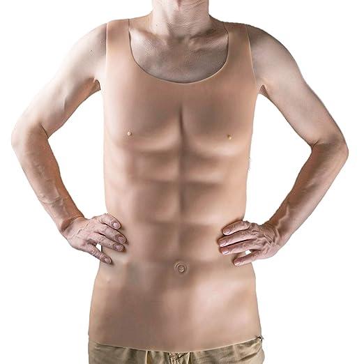 Wearable Falsa De Silicona Muscular del Músculo del Pecho ...
