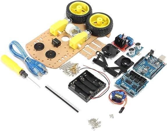 Starmood DIY L298N 2WD Ultrasonic Smart Tracking Moteur Robot Module Car Kit
