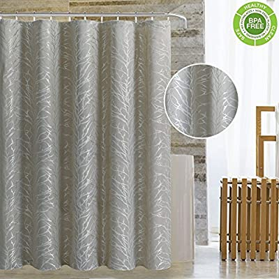 Magnificentex Shower Curtain Bath For Bathtub Jacquard Fabric With Stylish Tree Branch Mildew Resistant Waterproof