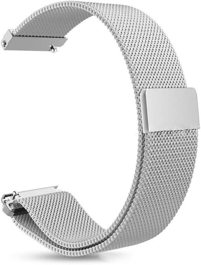 S'good - Correa de repuesto para reloj de pulsera de acero inoxidable para Amazfit GTR 42 mm 47 mm
