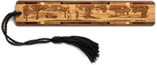 product image for Golfers Engraved Wooden Bookmark with Tassel