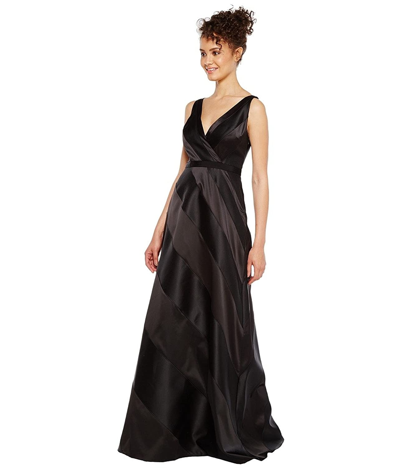 Adrianna Papell Women\'s Fabric Combo Ball Gown Black 14 at Amazon ...
