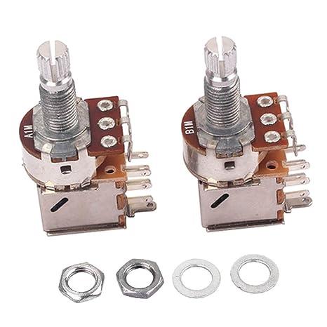 Jili en línea 18 mm Eje Potenciómetro A1 M B1 M olla para guitarra eléctrica partes