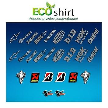 Ecoshirt Stickers Sponsors Moto Gp R332 Stickers Aufkleber Decals Autocollants Adesivi Motogp Rossi 46 Lorenzo Zarco Petrucci