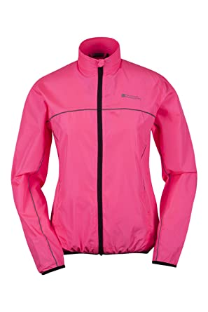 Mountain Warehouse Force Womens Water-Resistant Reflective Running Jacket  Bright Pink 20 8120f5acb