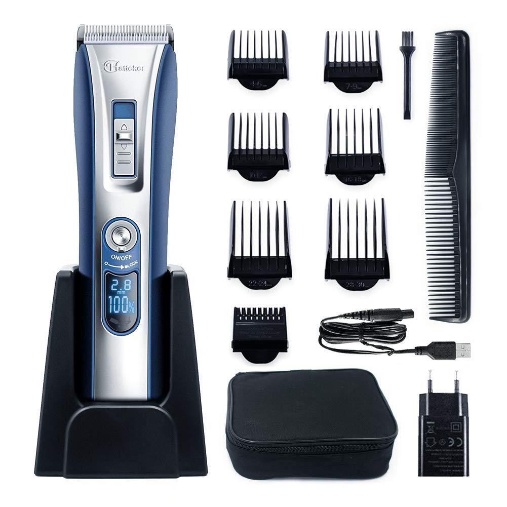 HATTEKER Tagliacapelli Professionale Regolabarba Per Uomo Tagliacapelli Elettrico Barba Rasoio USB ricaricabile