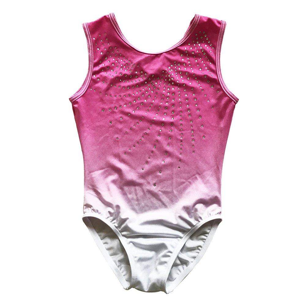 One-piece Dancing Gymnastics Athletic Leotard for Little Girl Rhinestones TL111