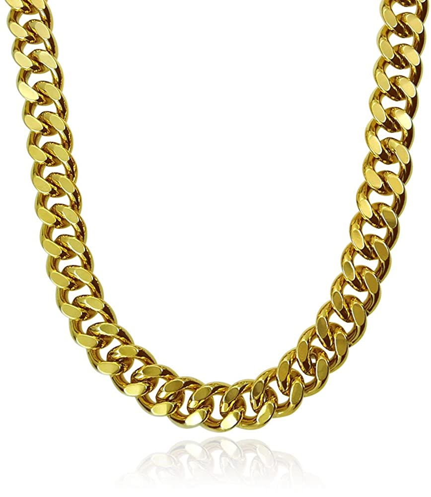 Gold//Silver Stainless Steel 7mm Think Curb Chain Men/'s Necklace Jewelry 60cm