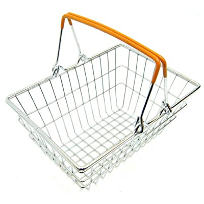 comeslele Toys for Gift,Children Miniature Metal Supermarket Shopping Basket Pretend Role Play Toy Gift - Orange: Toys & Games