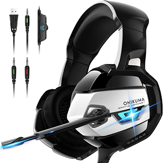 PS4 Gaming Headset - ONIKUMA Gaming Headset with 7.1 Surround Sound