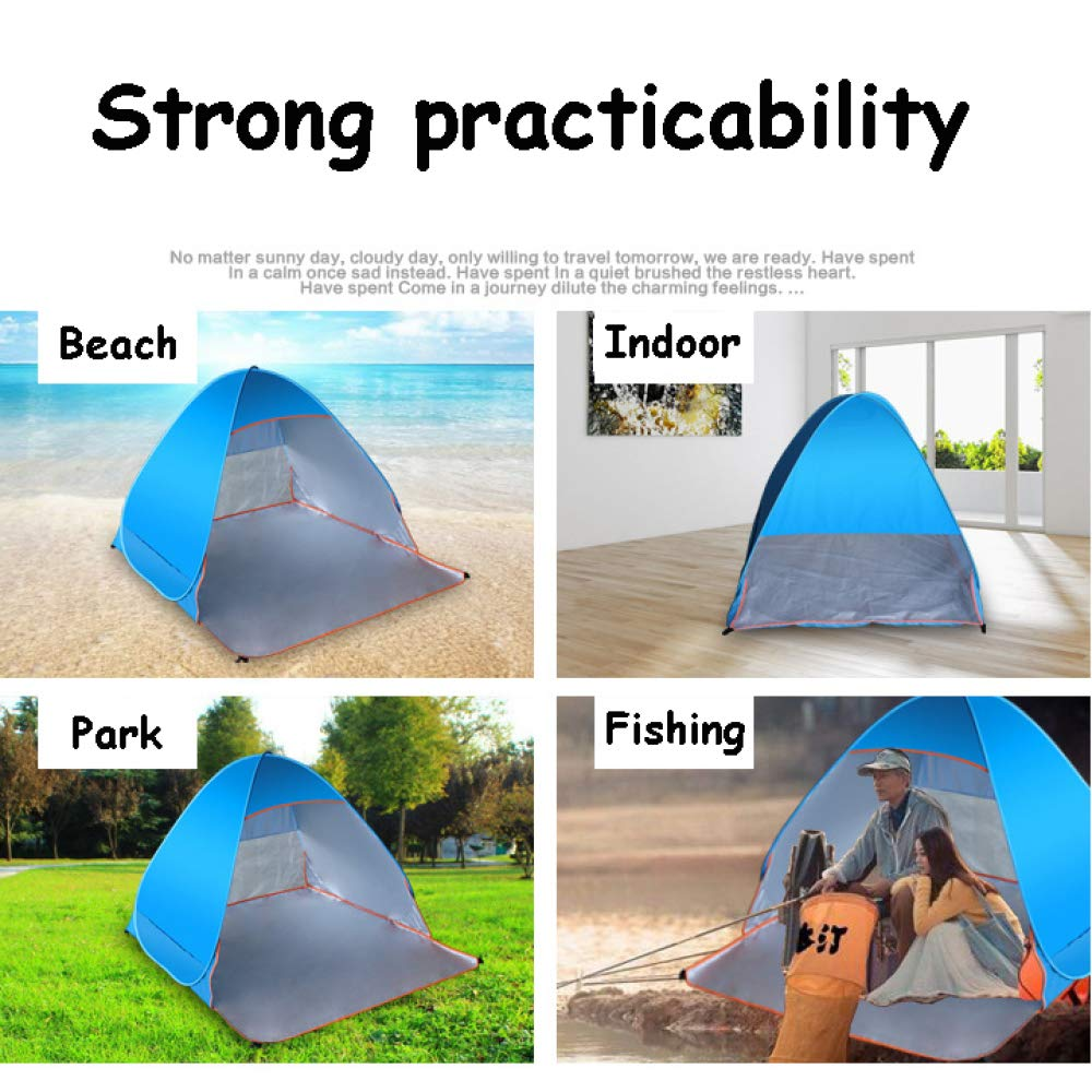 Hiking Picnic CHANODUG 2 3 Person Automatic Large Space Family Camping Tent with Awning Outdoor 4 Season Pop Up Backpacking Dome Tent Waterproof Lightweight Sun Shelter for Beach