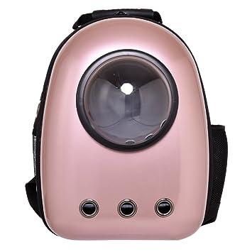 Transportin de viaje para gatos o pequeños perros Mochila ligero impermeable respirable ABS Rosado: Amazon.es: Productos para mascotas