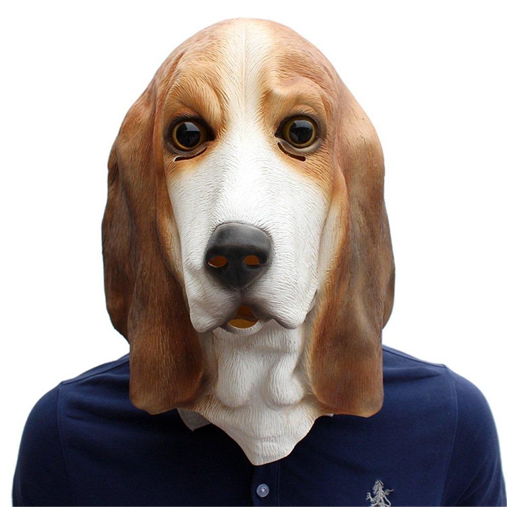 El ultimo 2018 KTYX Halloween Festival Party Supplies Pet Latex Latex Latex Dog Mask Basset Máscara  liquidación hasta el 70%